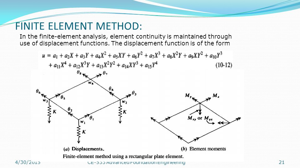 FINITE ELEMENT METHOD: