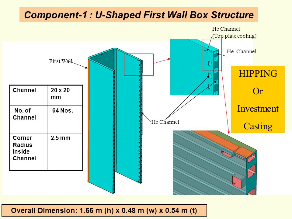 Component-1 : U-Shaped First Wall Box Structure