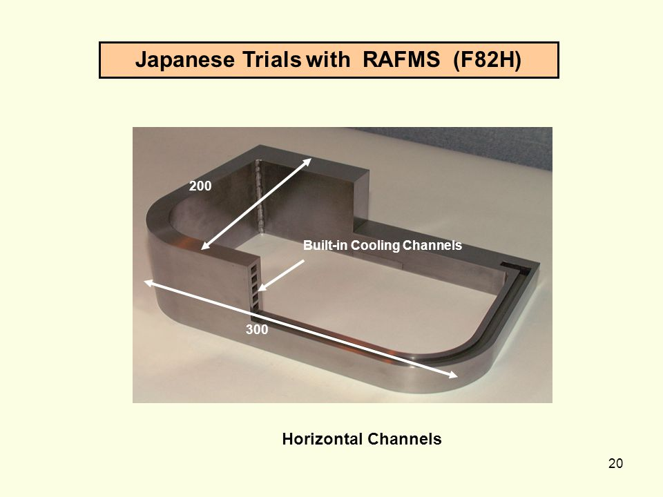 Japanese Trials with RAFMS (F82H)