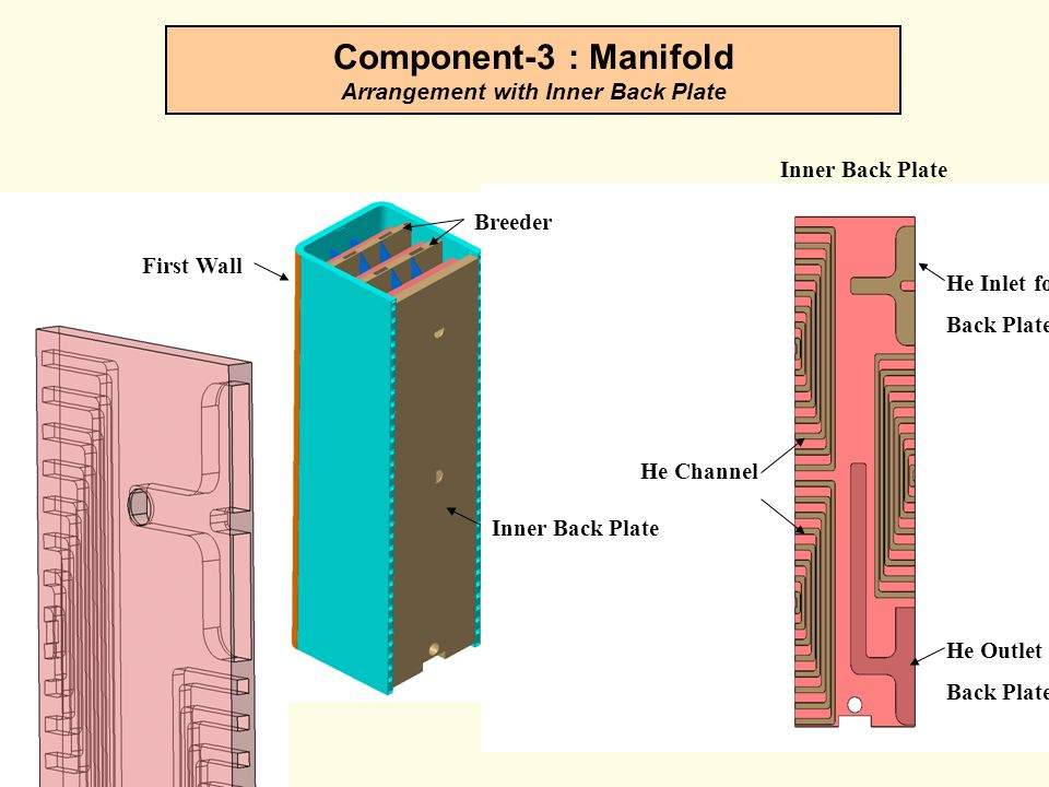 Component-3 : Manifold Arrangement with Inner Back Plate