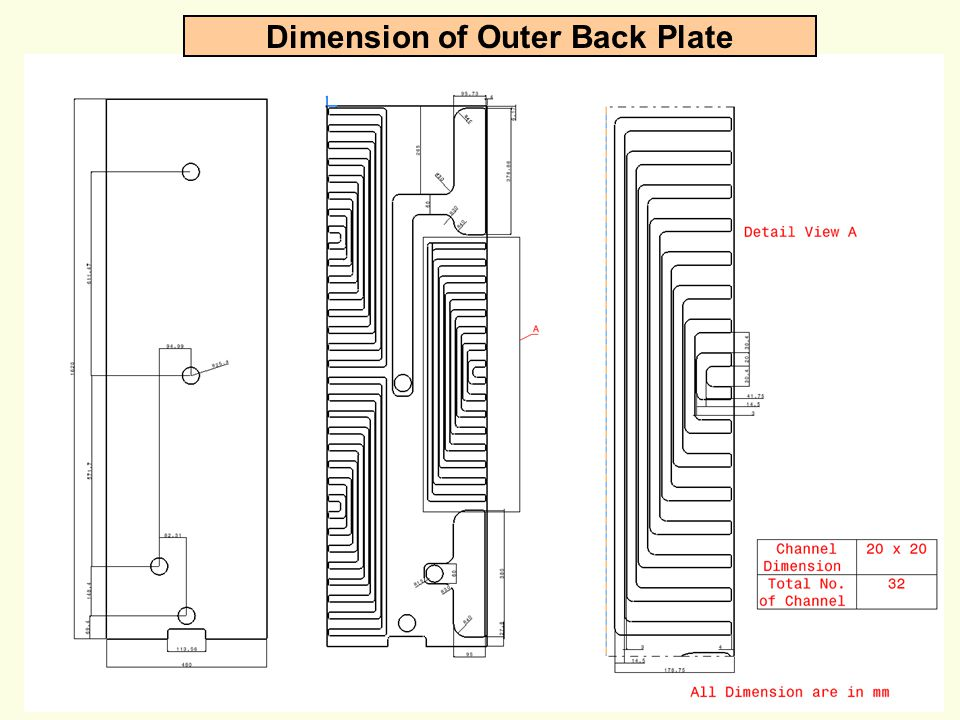 Dimension of Outer Back Plate