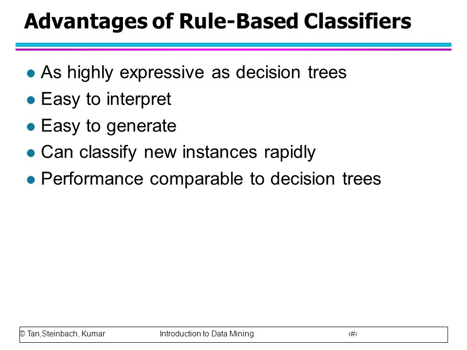 Advantages of Rule-Based Classifiers