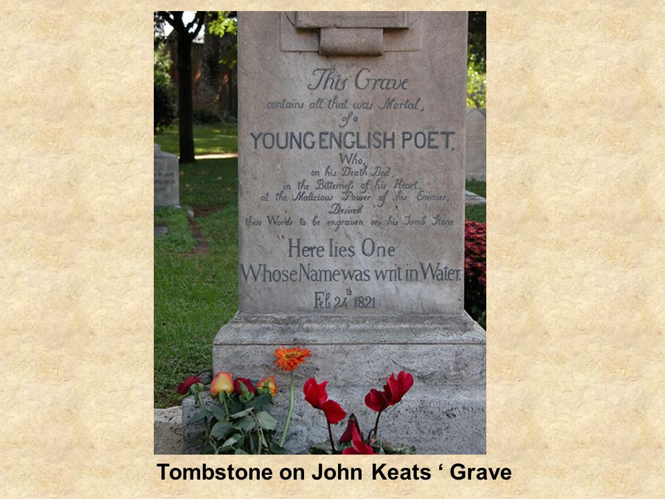 Tombstone on John Keats ' Grave