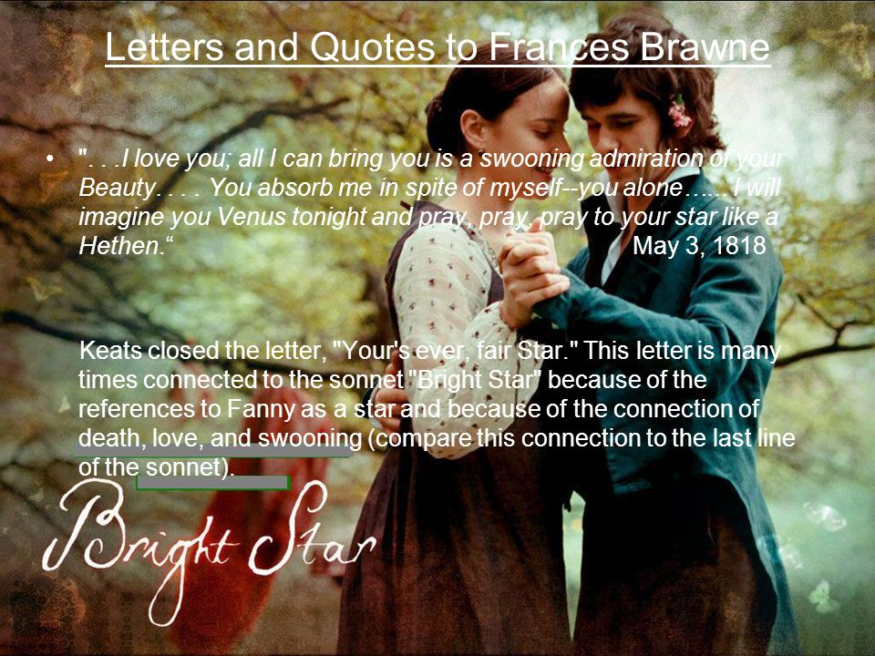 Letters and Quotes to Frances Brawne