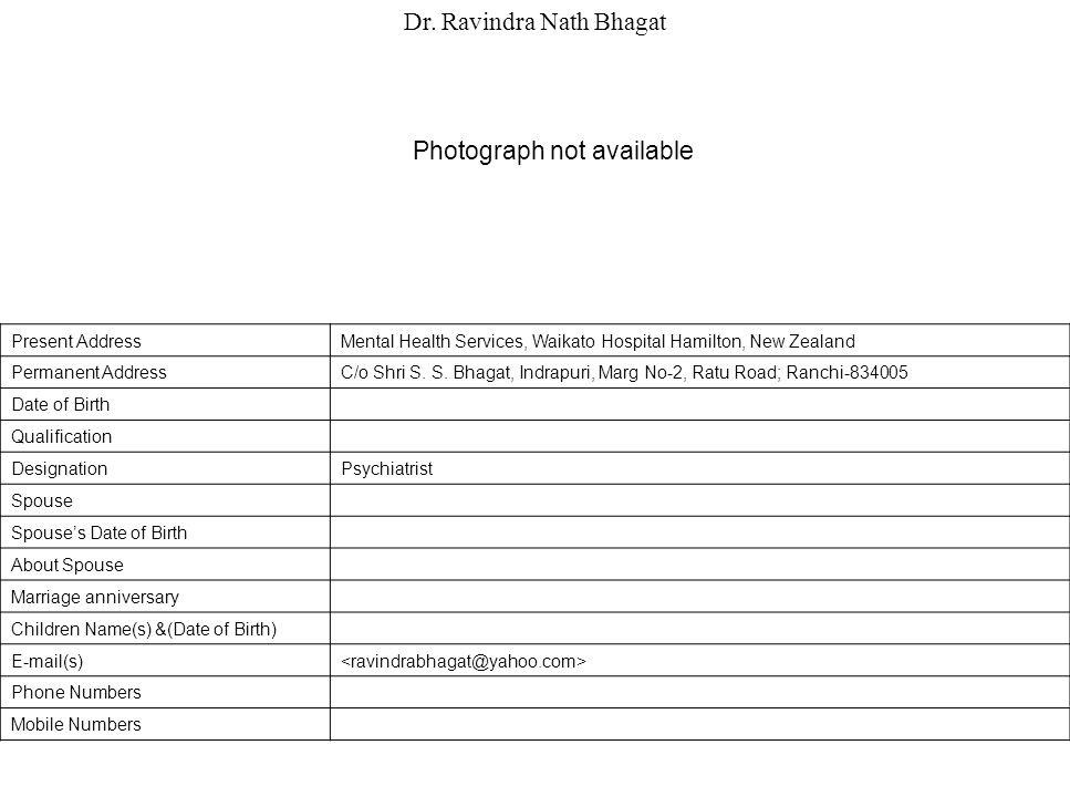Dr. Ravindra Nath Bhagat