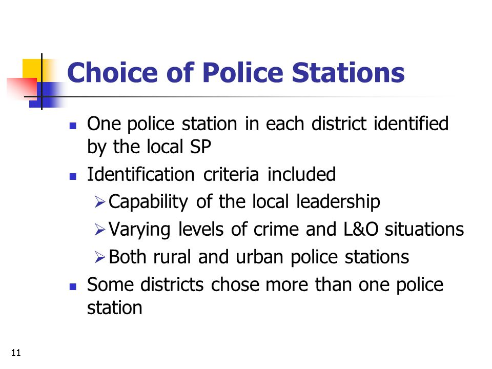 Choice of Police Stations