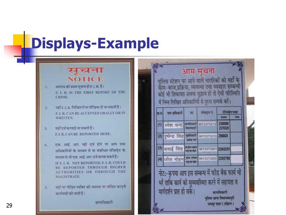 Displays-Example