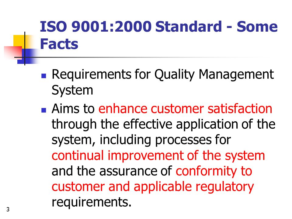 ISO 9001:2000 Standard - Some Facts
