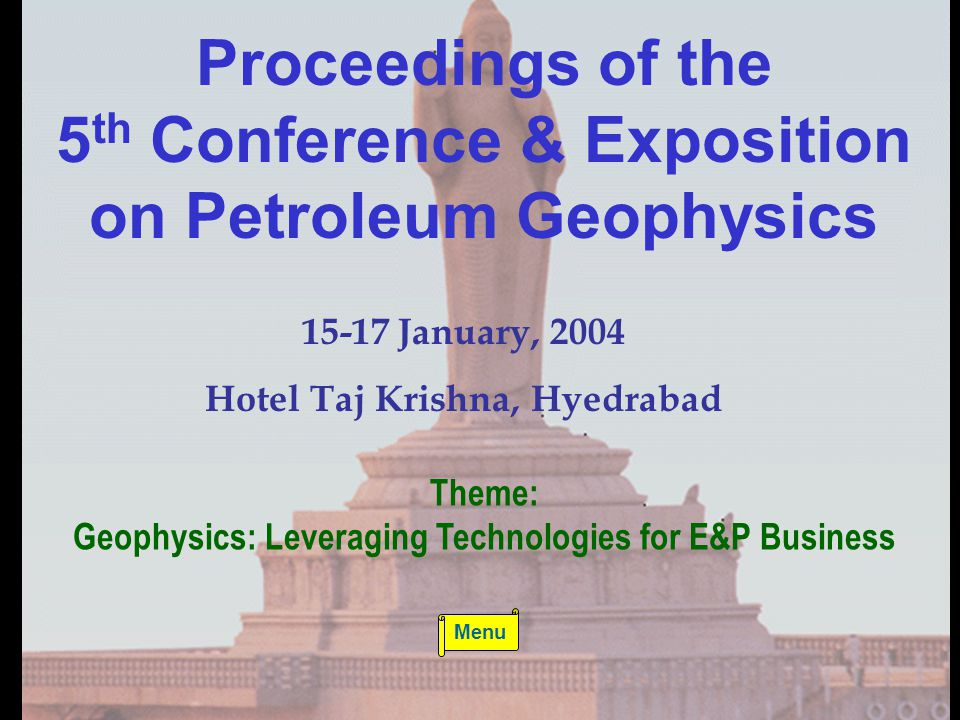 5th Conference & Exposition on Petroleum Geophysics