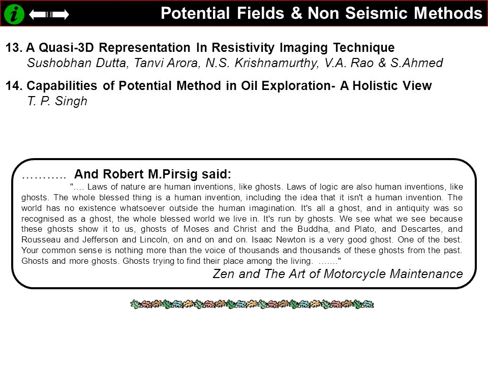 Potential Fields & Non Seismic Methods