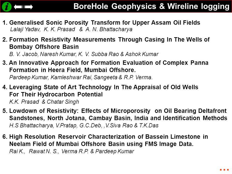 … BoreHole Geophysics & Wireline logging
