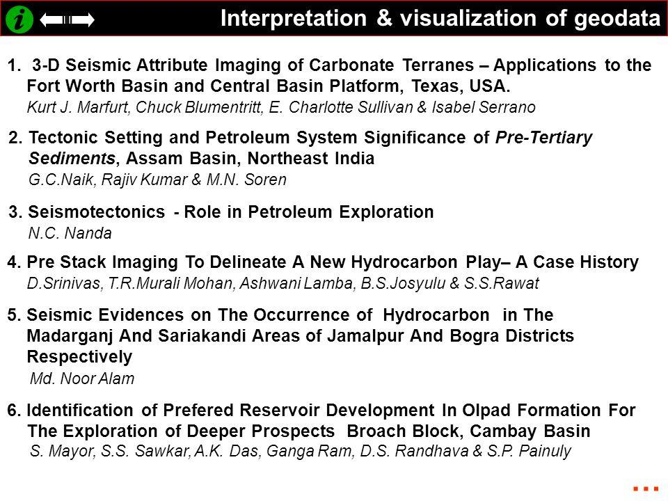 … Interpretation & visualization of geodata