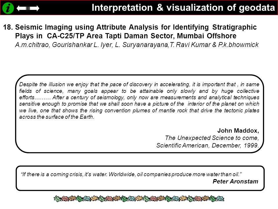 Interpretation & visualization of geodata