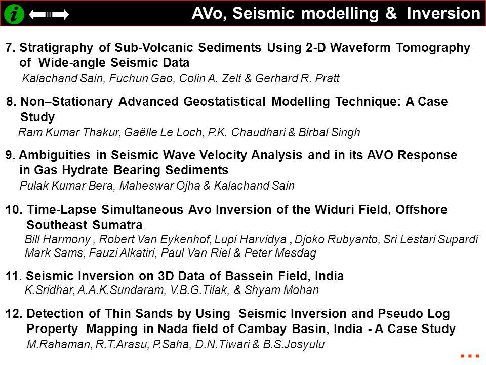 … AVo, Seismic modelling & Inversion