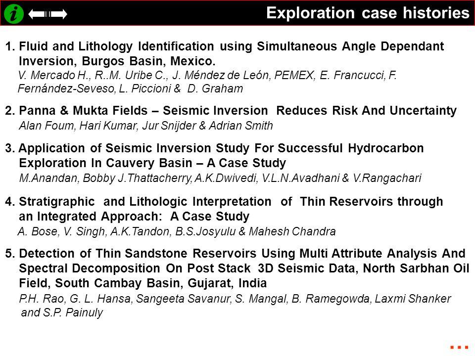 … Exploration case histories