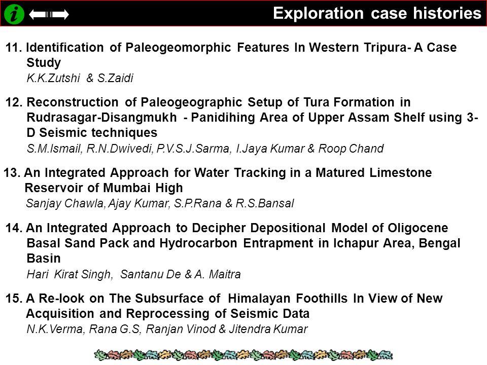 Exploration case histories