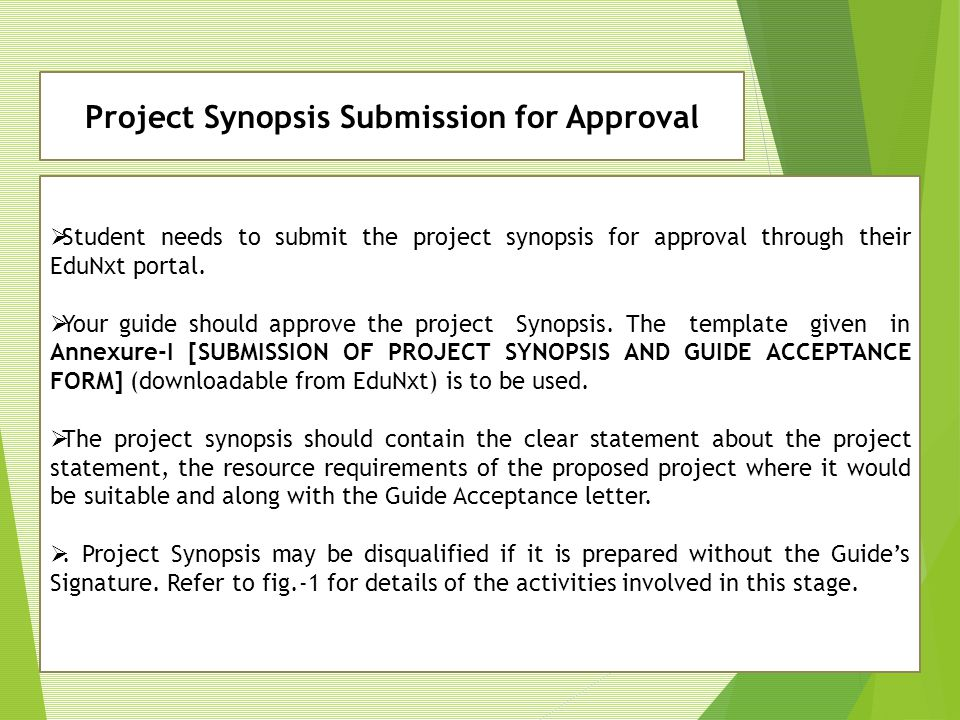 Project Synopsis Submission for Approval