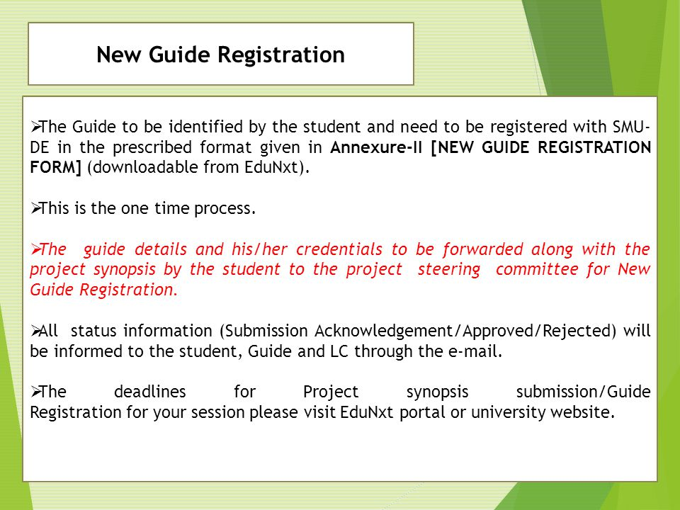 New Guide Registration