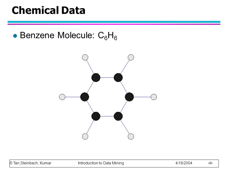 Chemical Data Benzene Molecule: C6H6