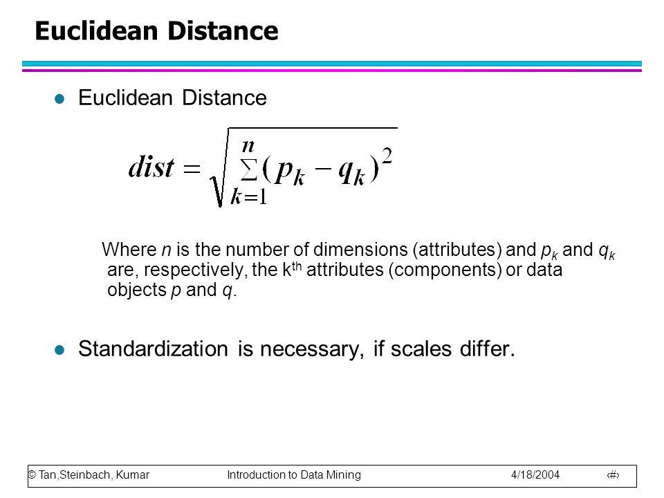 Euclidean Distance Euclidean Distance