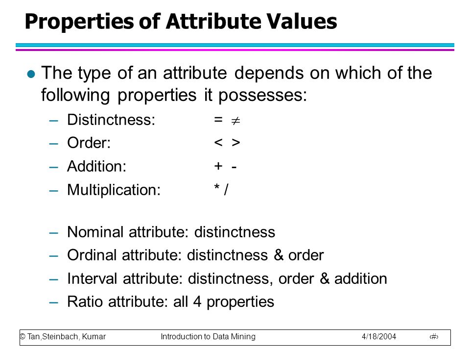 Properties of Attribute Values