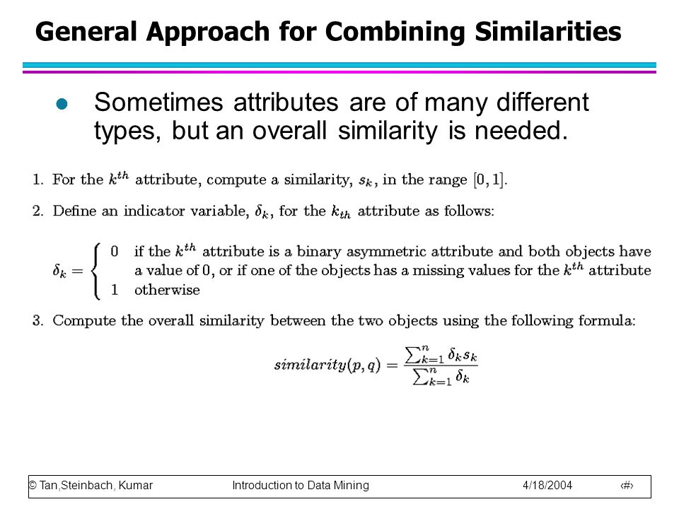 General Approach for Combining Similarities