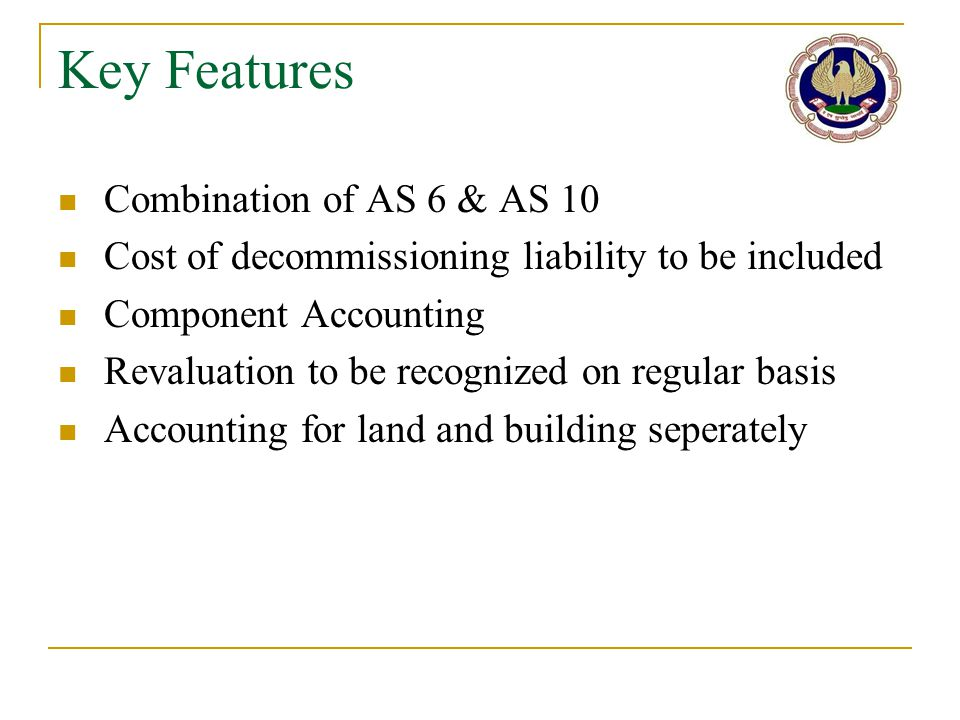 Key Features Combination of AS 6 & AS 10