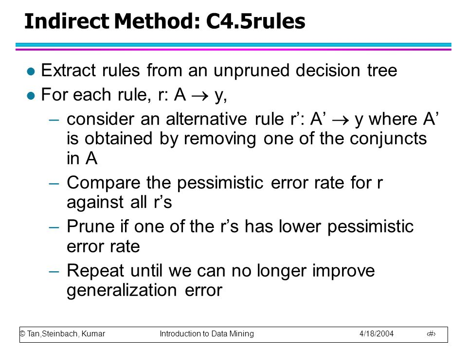 Indirect Method: C4.5rules