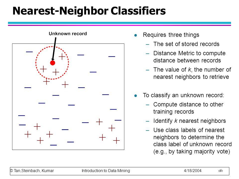 Nearest-Neighbor Classifiers