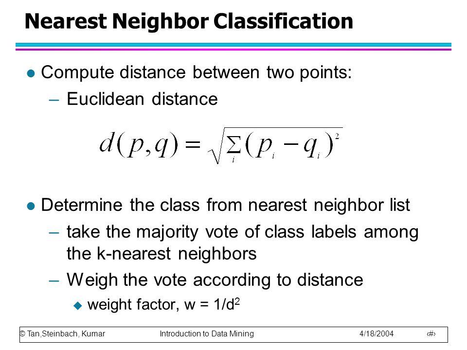 Nearest Neighbor Classification