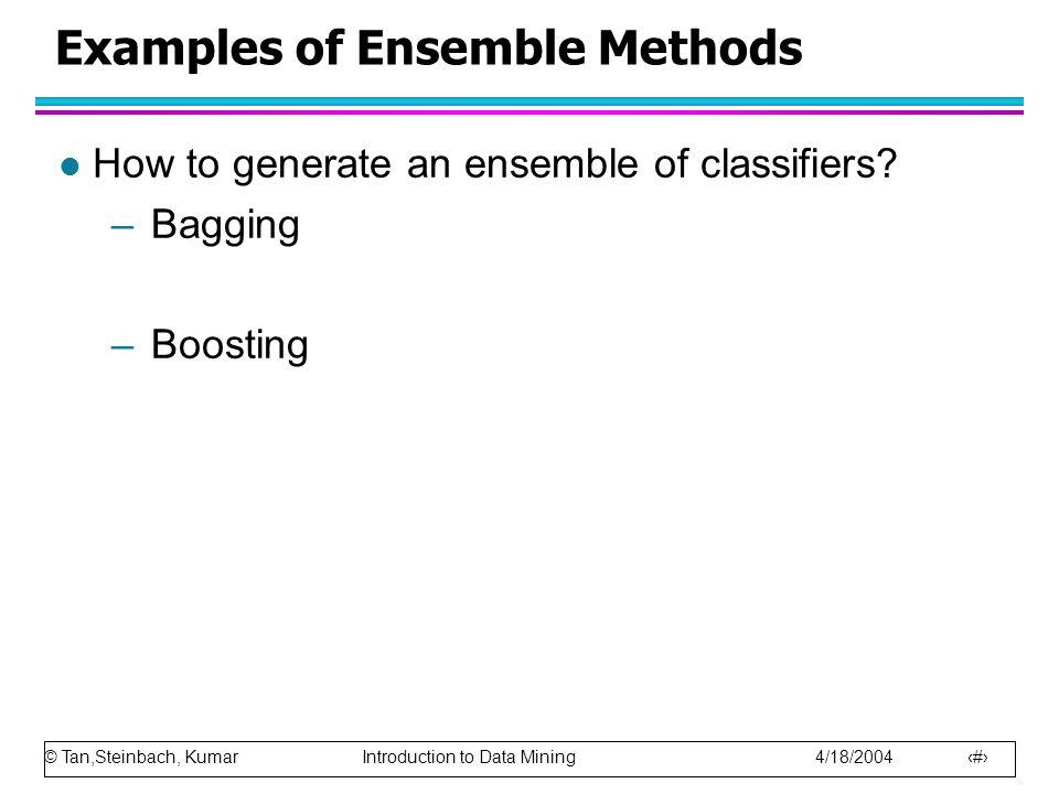 Examples of Ensemble Methods