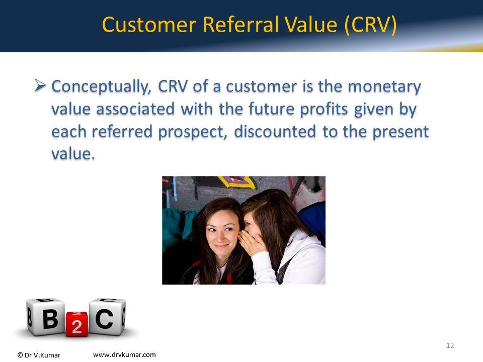 Customer Referral Value (CRV)