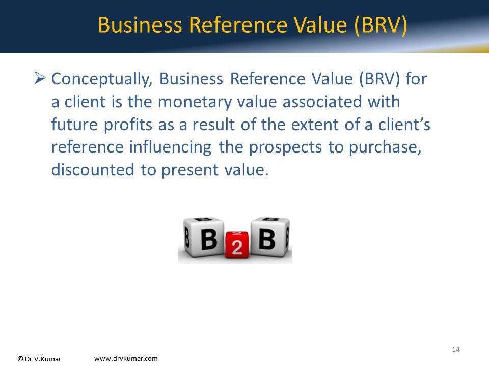 Business Reference Value (BRV)