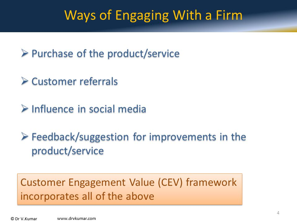 Ways of Engaging With a Firm