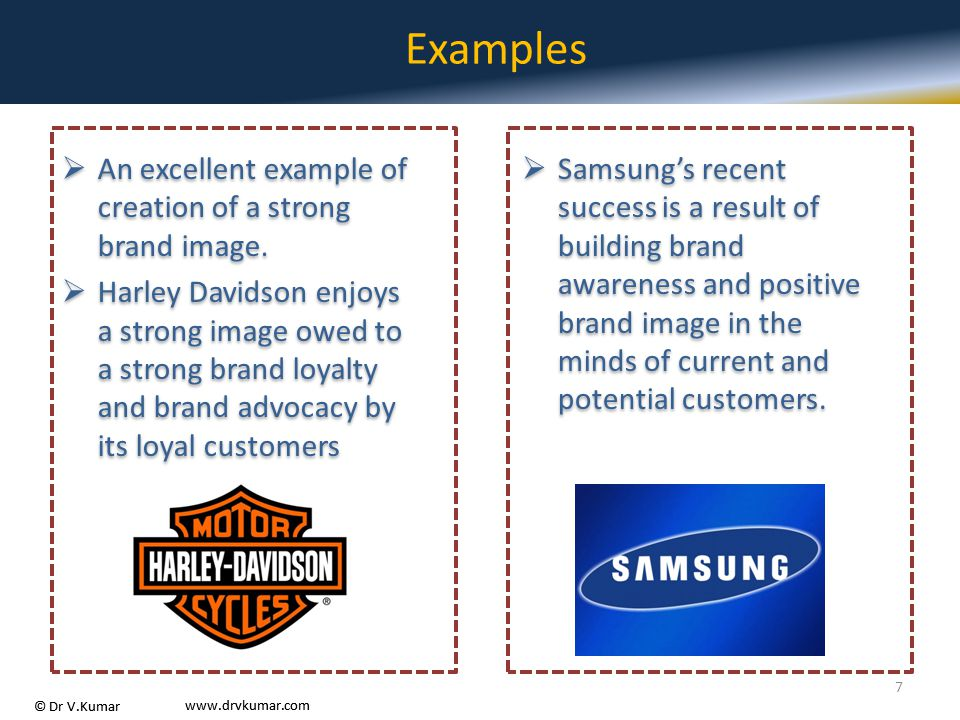Examples An excellent example of creation of a strong brand image.