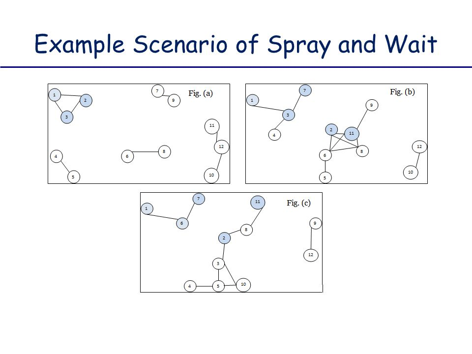 Example Scenario of Spray and Wait