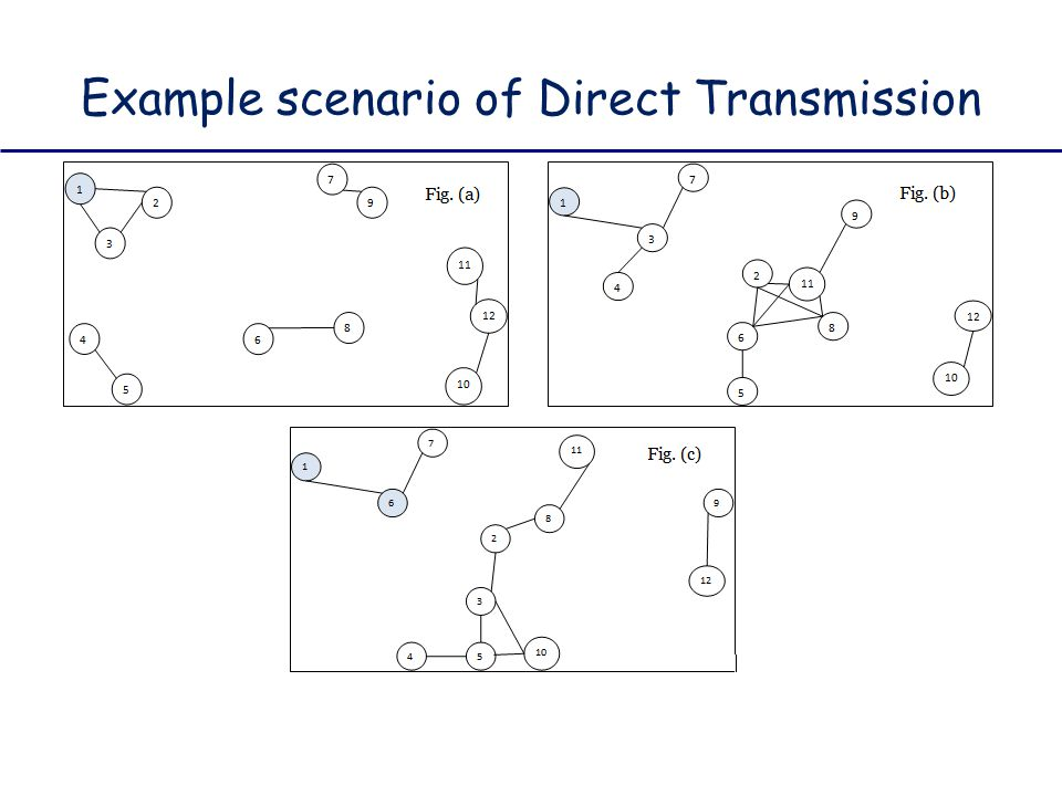 Example scenario of Direct Transmission