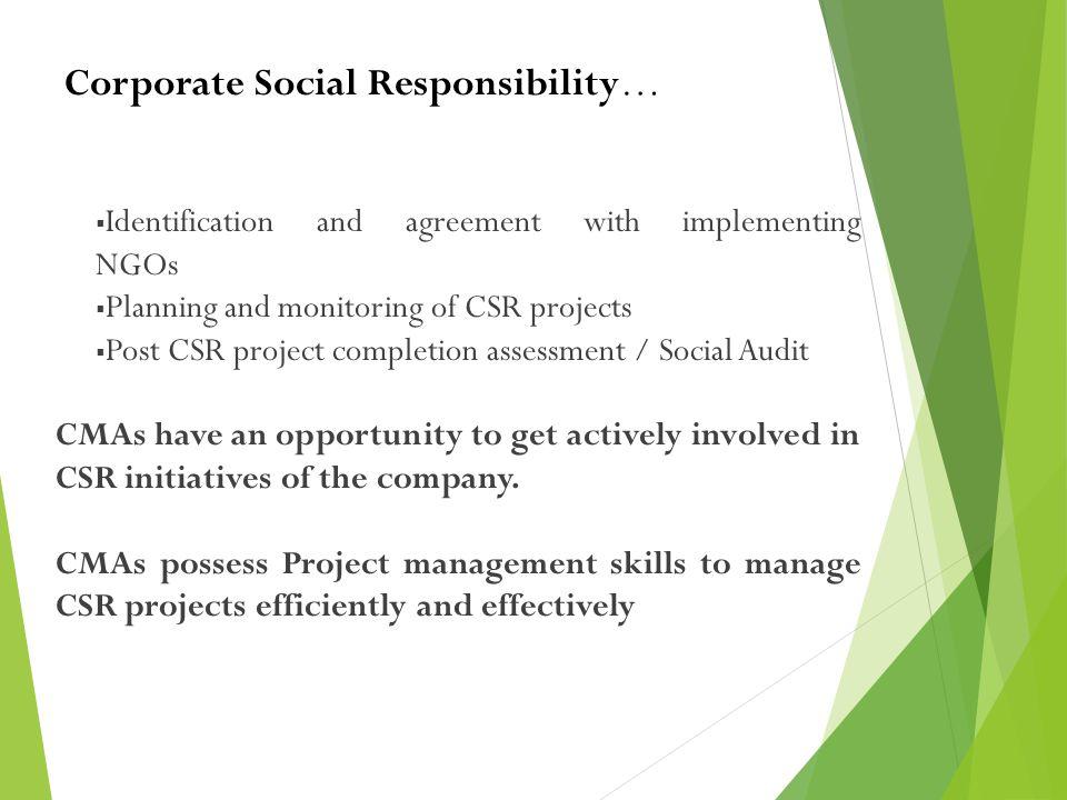 Corporate Social Responsibility…