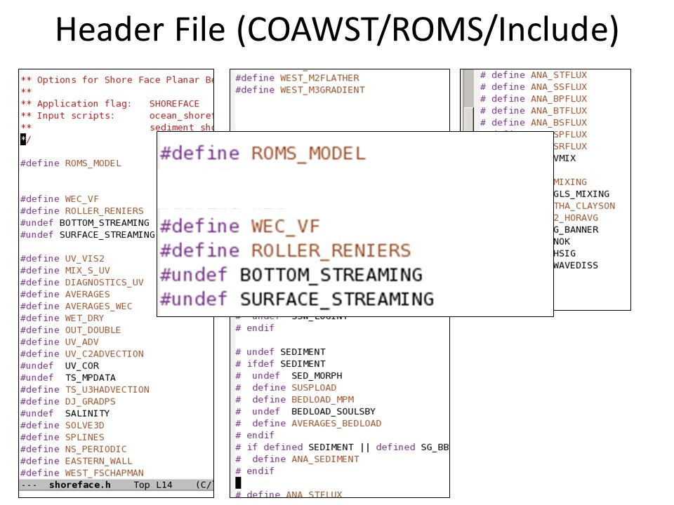 Header File (COAWST/ROMS/Include)