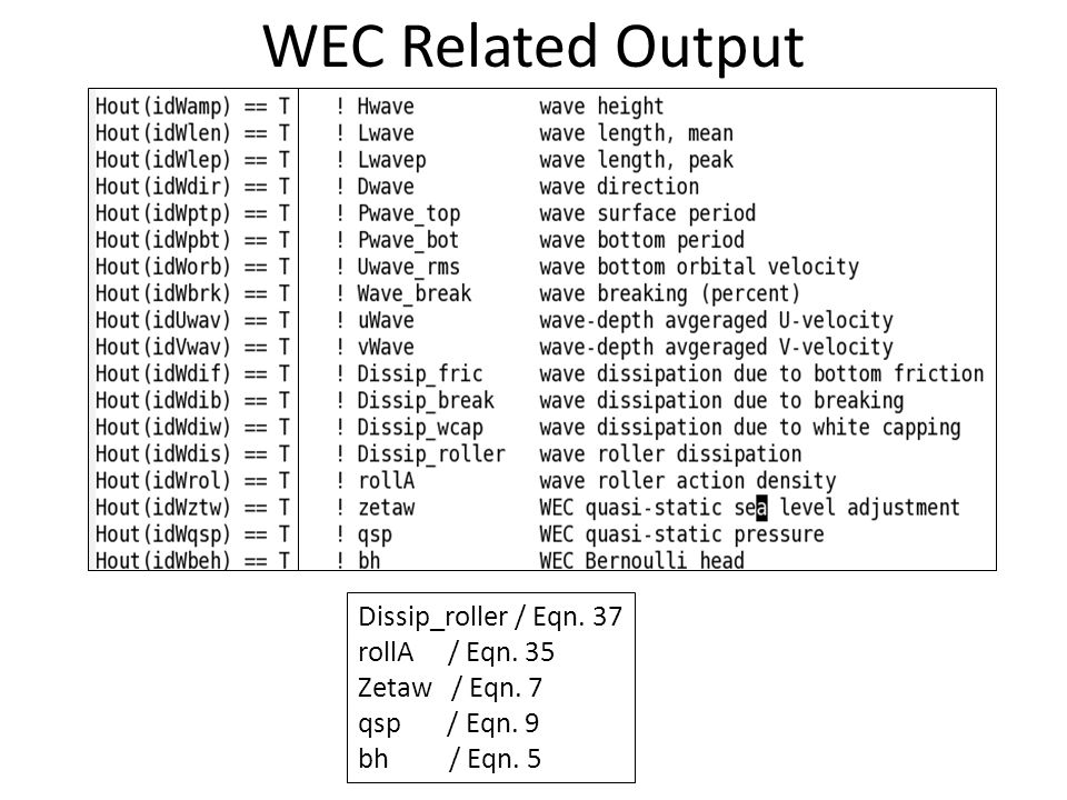 WEC Related Output Dissip_roller / Eqn. 37 rollA / Eqn. 35