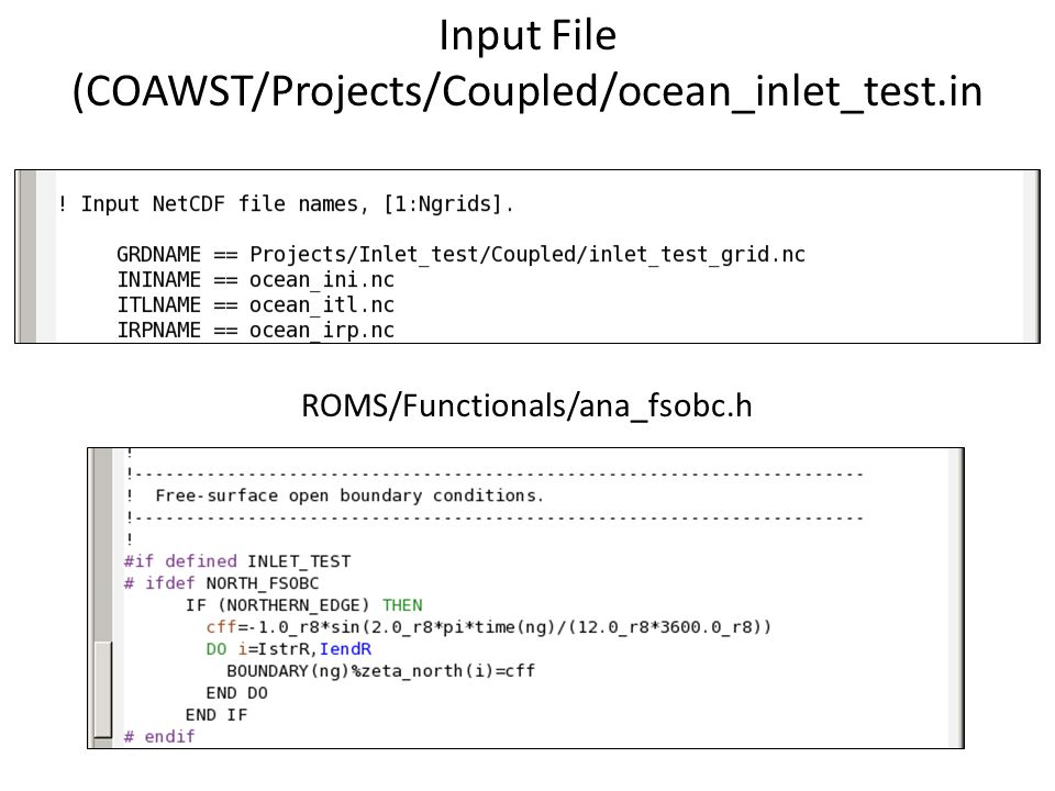 Input File (COAWST/Projects/Coupled/ocean_inlet_test.in