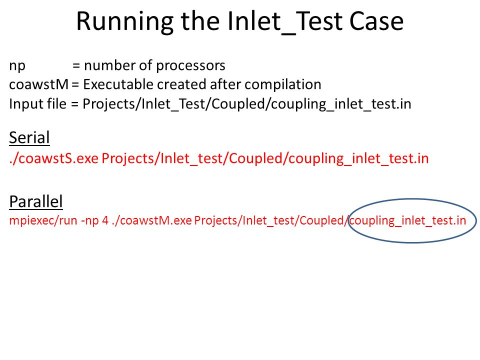 Running the Inlet_Test Case