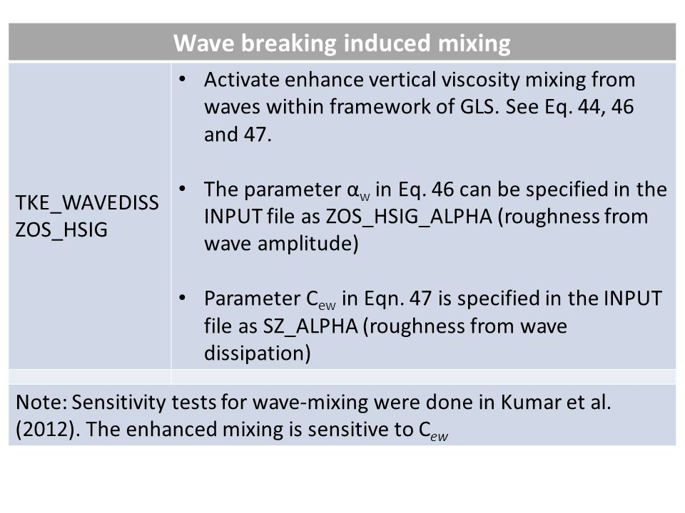 Wave breaking induced mixing