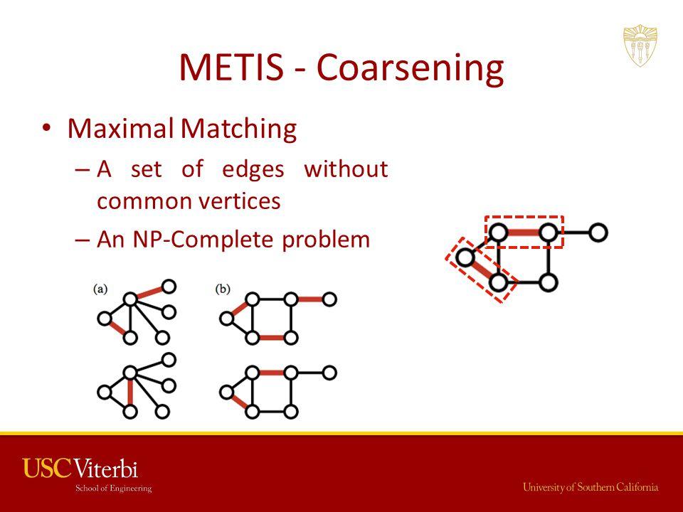 METIS - Coarsening Maximal Matching