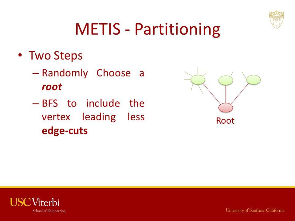 METIS - Partitioning Two Steps Randomly Choose a root