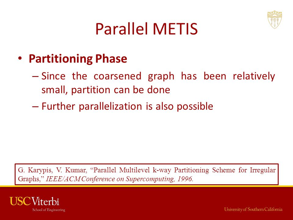 Parallel METIS Partitioning Phase