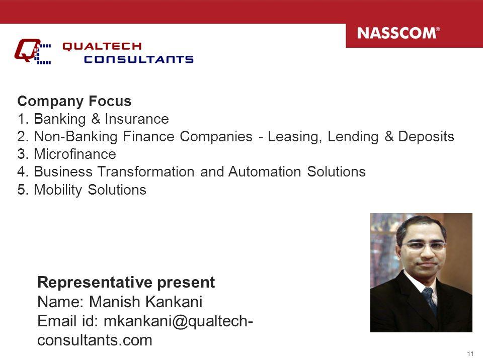 Representative present Name: Manish Kankani