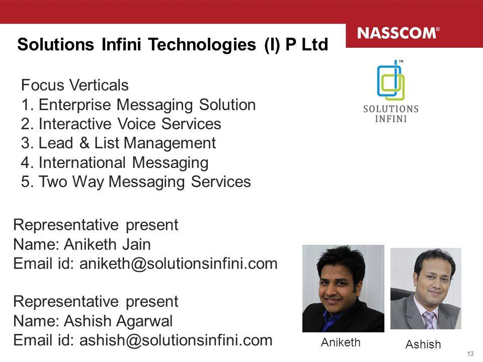 Solutions Infini Technologies (I) P Ltd