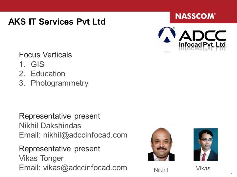 AKS IT Services Pvt Ltd Focus Verticals GIS Education Photogrammetry