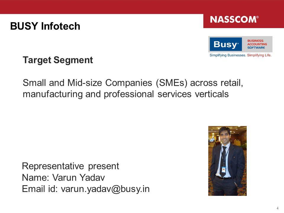 BUSY Infotech Target Segment
